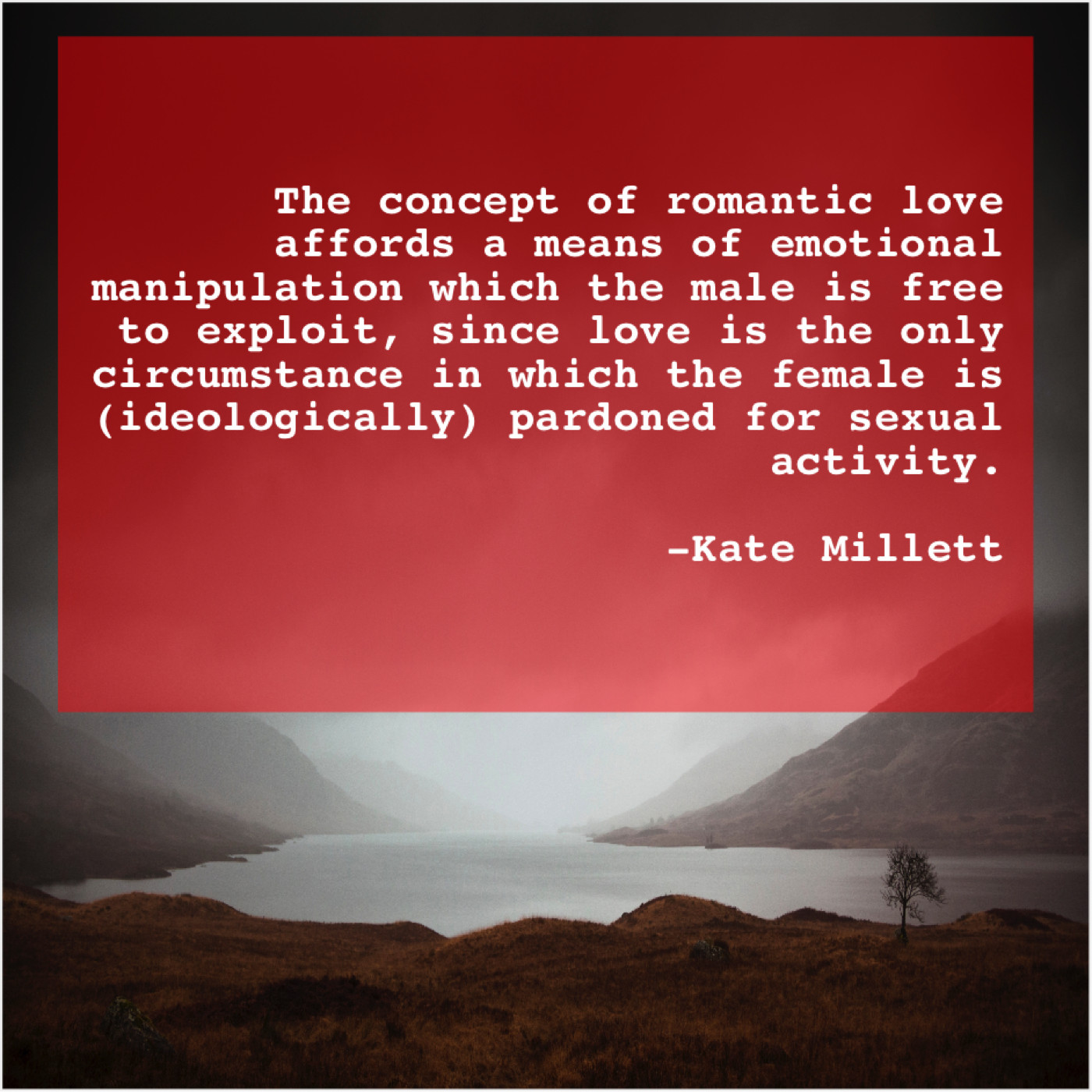 Kate Millett – The concept of romantic love… – Famous Quotes